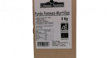 Les Côteaux Nantais - Purée Pommes Myrtilles 3kg