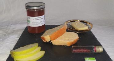 La Ferme du Montet - Gelée Extra de pommes safran BIO - 220 g