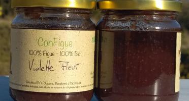 Le Ziboud'Terre - Producteur de figues - .ConFigue de Figue Violette fleur Bio 200 g