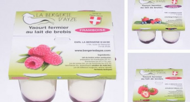 La Bergerie d'Ayze - Le Petit Panier Fruits Rouges (12 Yaourts)