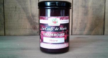 Le Domaine du Framboisier - Confiture allégée en sucre Framboise Mûre 250g