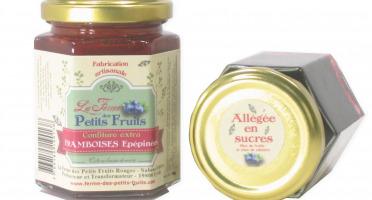 La Ferme des petits fruits - Confiture De Framboises  Épépinées Allégée En Sucres