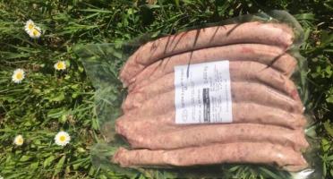 Marie et Nicolas REY - Domaine REY - Chipolatas de Porc Noir de Bigorre AOP