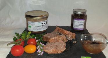 La Ferme du Montet - Pâté de campagne de Porc Noir Gascon BIO 190 g