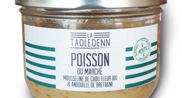 La Chikolodenn - Poisson Du Marché, Mousseline Chou-fleur/pommes De Terre Bio, Morceaux D'andouille De Bretagne, 280g