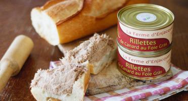 La ferme d'Enjacquet - Rillettes de canard au foie gras