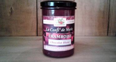 Le Domaine du Framboisier - Confiture allégée en sucre Framboise et Chocolat Blanc 250g