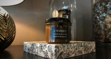 L'AMBR'1 Caramels et Gourmandises - Crème De Caramel À La Vanille De Madagascar Bio - Pot De 130g