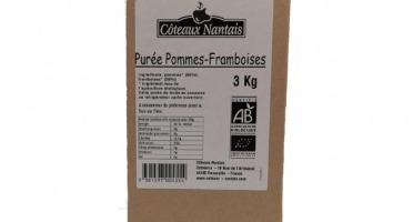 Les Côteaux Nantais - Purée Pommes Framboises 3kg