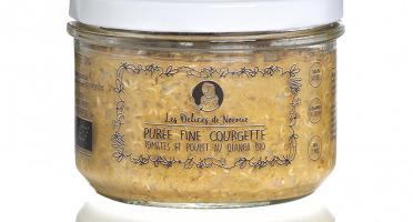 Les délices de Noémie - Petits Pots Bébé 8 mois: Lot de 3 Purée fine courgette, tomates et poulet au quinoa Bio
