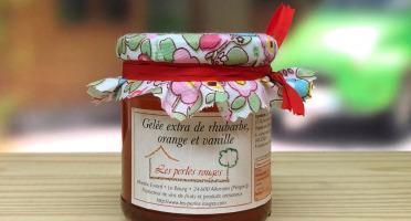 Les Perles Rouges - Gelée Extra De Rhubarbe, Orange Et Vanille Bourbon