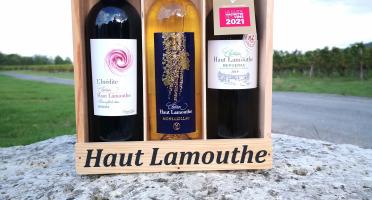 Château Haut-Lamouthe - Coffret Bois de 3 Bouteilles: AOC Monbazillac, et AOC Bergerac Rouge et Blanc