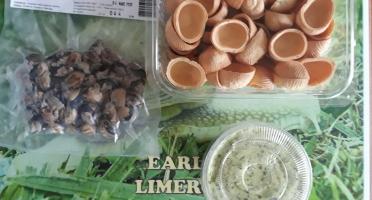 Limero l'Escargot Mayennais - Atelier Culinaire : Lot De 4x 12 Chairs D'escargot gros gris FRAIS, 4x 12 Croquilles Et 250 g De Beurre Persil