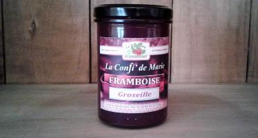 Le Domaine du Framboisier - Confiture allégée en sucre Framboise et Groseille 250g