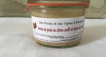 Des Poules et des Vignes à Bourgueil - Terrine de Poule au Chenin et Citron Confit