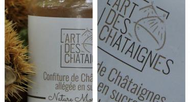 L'Art des Châtaignes - Confiture De Châtaignes Allégée Sucre - Nature Morceaux - 320g