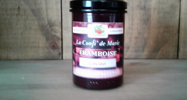 Le Domaine du Framboisier - Confiture allégée en sucre Framboise et Cacao 250g