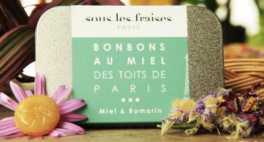 Sous les fraises - Epicerie des Toits de Paris - Bonbons Miels & Romarin