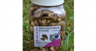 Trapon Champignons - Shiitakes Secs - 300 G - Entiers