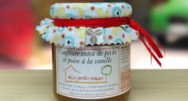 Les Perles Rouges - Confiture Extra De Pêche Et Poire À La Vanille Bourbon