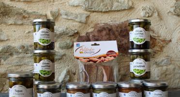 Les amandes et olives du Mont Bouquet - Panier Apéro 100% Olives