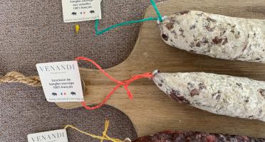 Venandi Sauvage par Nature - Lot de 3 Saucissons de Sanglier 100% Français