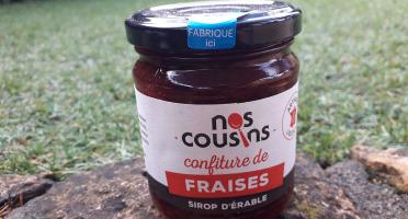 Nos cousins Conserverie - Confiture De Fraise - Sirop D'érable 240g