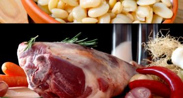 La ferme d'Enjacquet - Offre : Gigot D'Agneau BIO Entier Et Haricots Tarbais Cuisinés pour 6 à 8 personnes