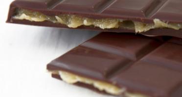 Compagnie Générale de Biscuiterie - Tablette Chocolat Noir Fourrée Caramel Banane