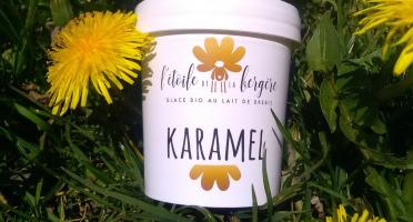 L'Etoile de la Bergère - Glace Bio Au Lait De Brebis Corse Karamel 170 Ml