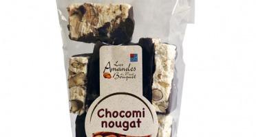 Les amandes et olives du Mont Bouquet - Chocomi-nougat 150 g (morceaux de nougat enrobés de chocolat noir)