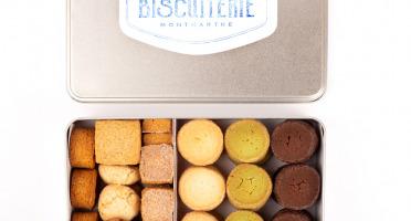 Compagnie Générale de Biscuiterie - Boîte en Métal avec Diamants, Palets Bretons, Pavés De La Butte®, Cookies - 800g