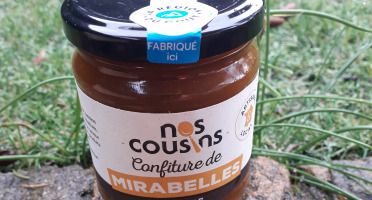 Nos cousins Conserverie - Confiture De Mirabelle De Bessenay - Lavande 240g