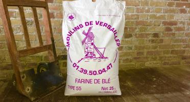 Moulins de Versailles - Farine Authentique T55 Corde Violette - 25 Kg