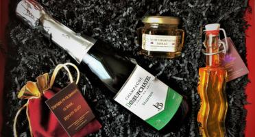 Le safran - l'or rouge des Ardennes - Coffret Champagne Et Safran