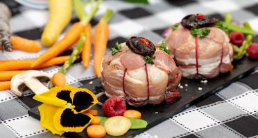 La ferme Grandvillain - Melons De Poulet Fermier Agenais (bacon & Pruneaux) - 2 X 200 G