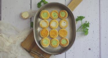 Limero l'Escargot Mayennais - Assiette De 12 Mini Bouchées D'escargots Gros Gris FRAIS Garnies Aux 3 Beurres - Lot De 2