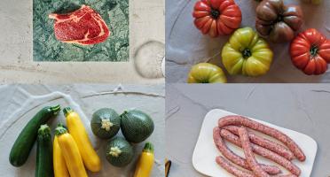 BEAUGRAIN, les viandes bien élevées - Panier Barbecue, fruits et légumes d'été
