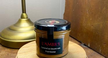L'AMBR'1 Caramels et Gourmandises - Crème De Caramel A La Framboise - Pot De 130g