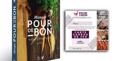 Pourdebon - [Précommande] Pack Livre Manger Pour de Bon + 30€ de chèque cadeau