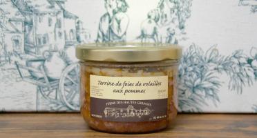 Ferme des Hautes Granges - Terrine de foies de volailles aux pommes - 370 g