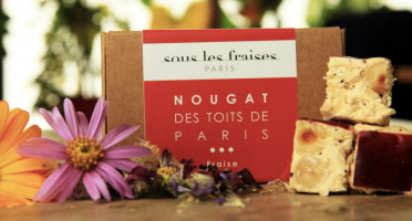 Sous les fraises - Epicerie des Toits de Paris - Nougat Fraise