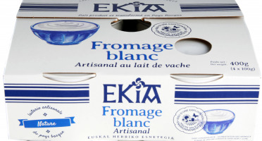 BASTIDARRA - Fromage Blanc Nature 4*100 Gr