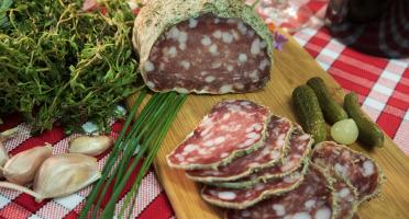 Maison Geret - Saucisson sec 100% pur porc aux herbes - 240 g