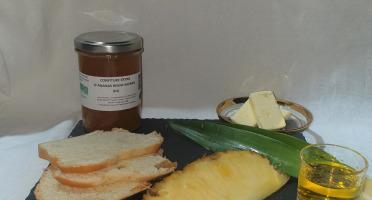 La Ferme du Montet - Confiture Extra d'ananas rhum safran BIO - 220 g