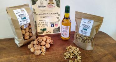 Domaine L'Hermiton - Coffret BIO noix coquille 1 kg - noix décortiqué 300 g - huile de noix 50 cl