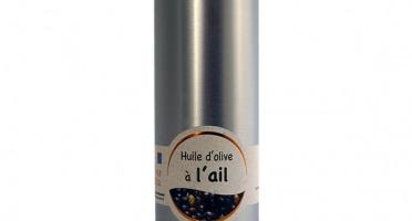 Les amandes et olives du Mont Bouquet - Huile d'olive à l'ail frais 20 cl