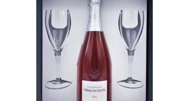 Champagne Deneufchatel - Coffret AOC Champagne Rosé + Flûtes