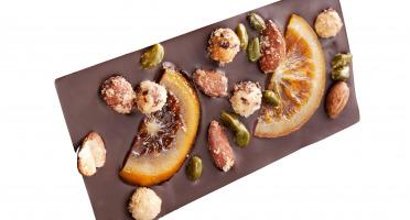 Maison Castelanne Chocolat - Tablette Mendiant Chocolat Noir Et Fruits Secs