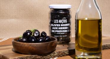 Les Niçois - Olives Noires Aux Herbes De Provence 170g